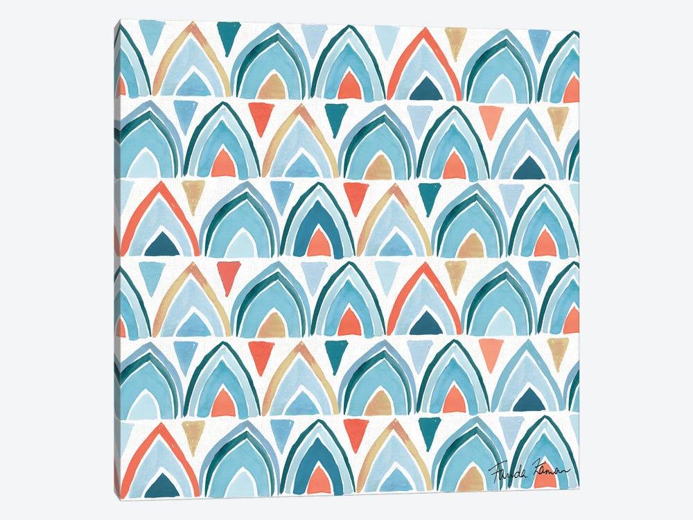 Whale Tale Pattern IV by Farida Zaman 1-piece Canvas Art Print