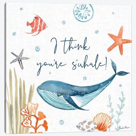 Whale Tale V Canvas Print #FZA55} by Farida Zaman Art Print