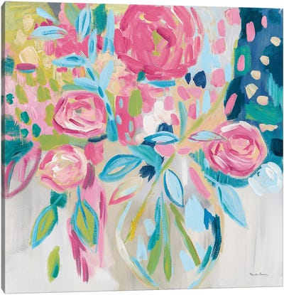 Summer Pink Floral Canvas Art Print