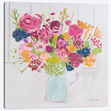 Bouquet for You Bright Canvas Print #FZA60} by Farida Zaman Canvas Art Print