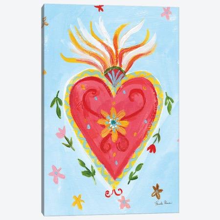 Frida's Heart I Canvas Print #FZA63} by Farida Zaman Art Print