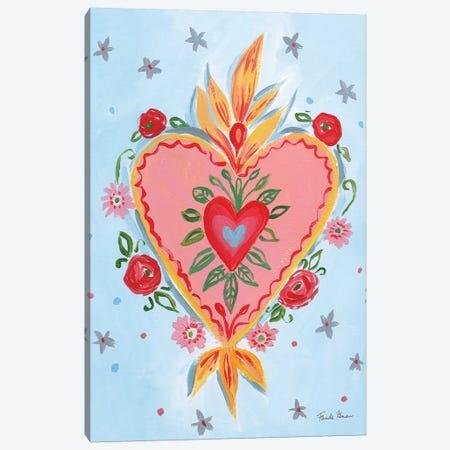 Frida's Heart III Canvas Print #FZA65} by Farida Zaman Canvas Art