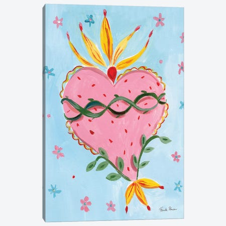 Frida's Heart IV Canvas Print #FZA66} by Farida Zaman Canvas Wall Art