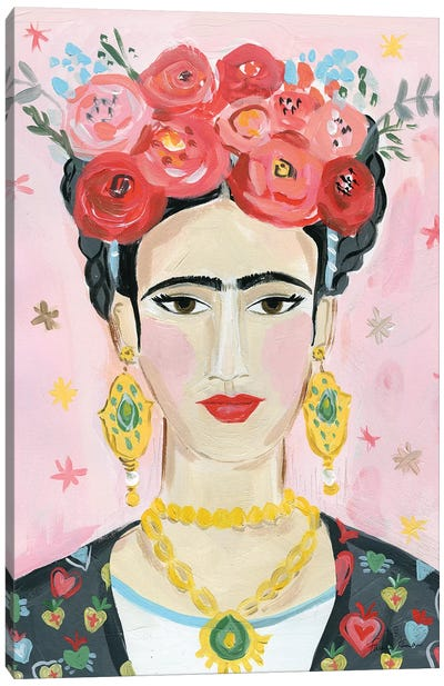 Homage to Frida Canvas Art Print