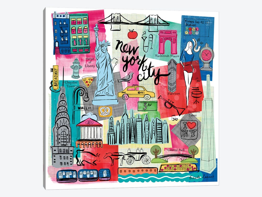 Global Travel I by Farida Zaman 1-piece Canvas Artwork