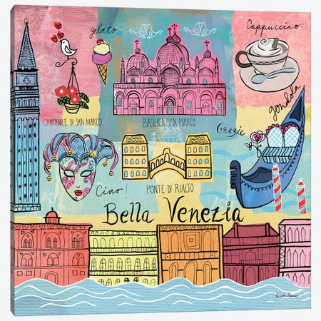 Global Travel IV Canvas Print #FZA81} by Farida Zaman Canvas Art Print