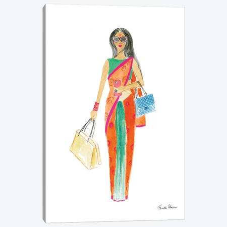 International Girls III Canvas Print #FZA8} by Farida Zaman Canvas Artwork