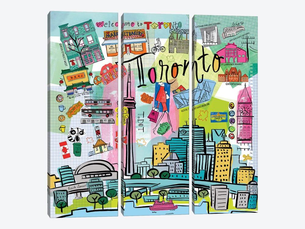 Global Travel XIII by Farida Zaman 3-piece Art Print