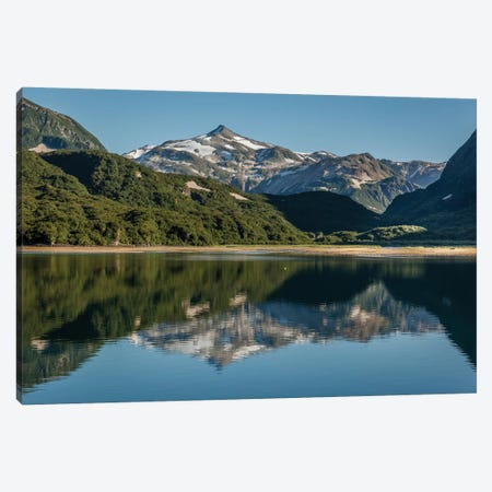 USA, Alaska, Katmai National Park. Landscape in Geographic Harbor of Amalik Bay. Canvas Print #FZU7} by Frank Zurey Canvas Wall Art