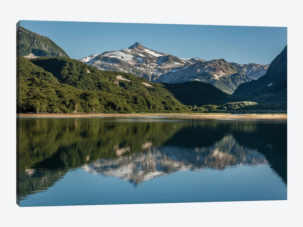 USA, Alaska, Katmai National Park. Landscape in Geographic Harbor of Amalik Bay. by Frank Zurey 1-piece Canvas Wall Art