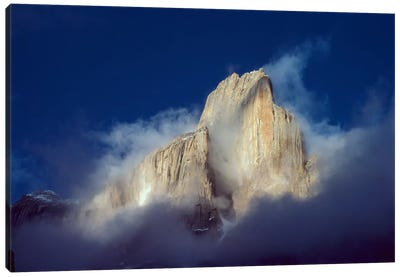 Trango Tower In Morning Mist, Karakoran Mountains, Pakistan Canvas Art Print