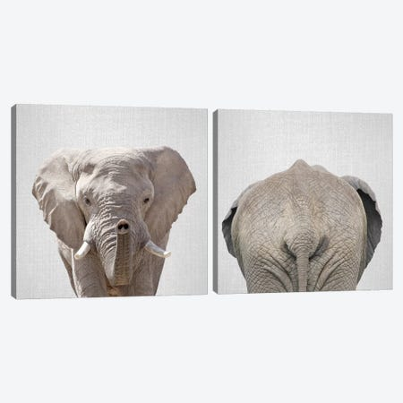 Elephant Diptych Canvas Print Set #GAD2HSET001} by Gal Design Canvas Art
