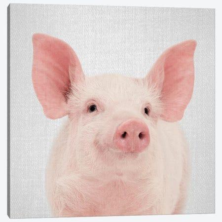 Pig Canvas Print #GAD47} by Gal Design Canvas Art Print