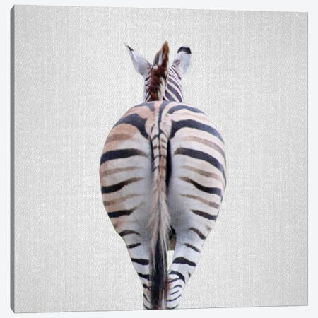 Zebra Tail Canvas Print #GAD59} by Gal Design Canvas Print