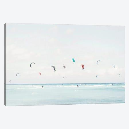 Kite Surfing Canvas Print #GAD62} by Gal Design Canvas Artwork