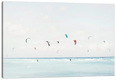 Kite Surfing Canvas Art Print