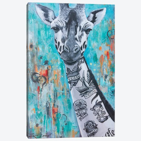 Livin La Vegan Loca Canvas Print #GAM21} by Tara Gamel Art Print