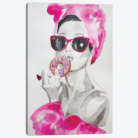 Pink Temptations  Canvas Print #GAM25} by Tara Gamel Canvas Artwork