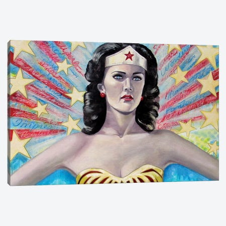 Wonder Words Canvas Print #GAM33} by Tara Gamel Canvas Artwork