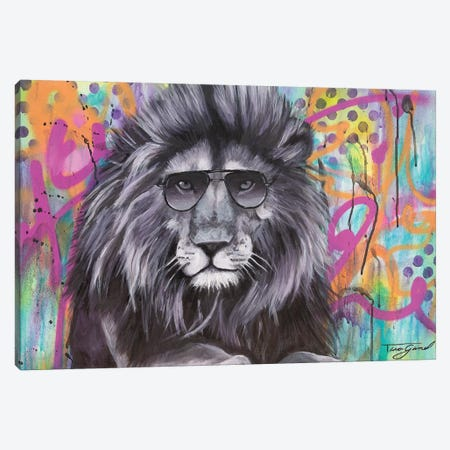 You Can't Hide Your Lion Eyes  Canvas Print #GAM36} by Tara Gamel Art Print