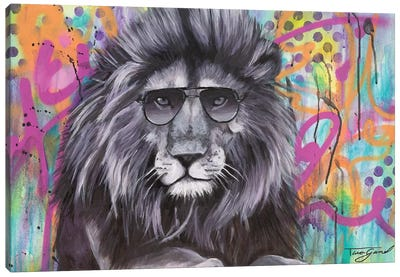 You Can't Hide Your Lion Eyes  Canvas Art Print