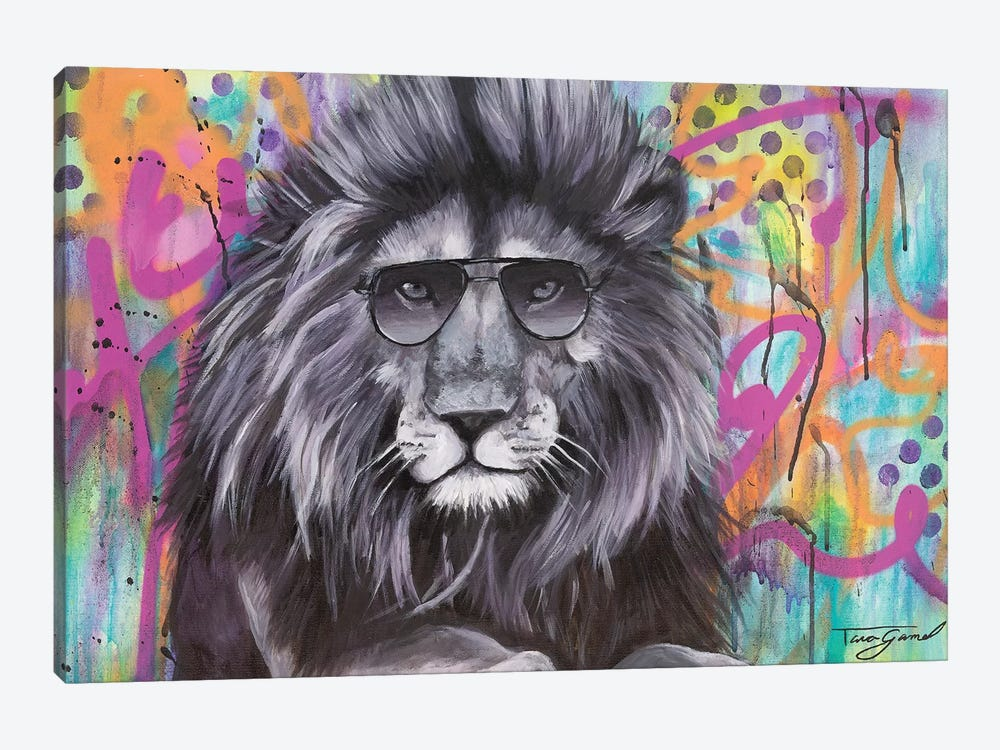 You Can't Hide Your Lion Eyes  by Tara Gamel 1-piece Canvas Print