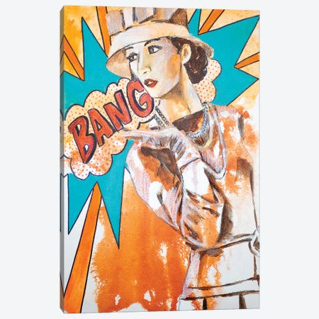 Bang  Canvas Print #GAM3} by Tara Gamel Canvas Artwork