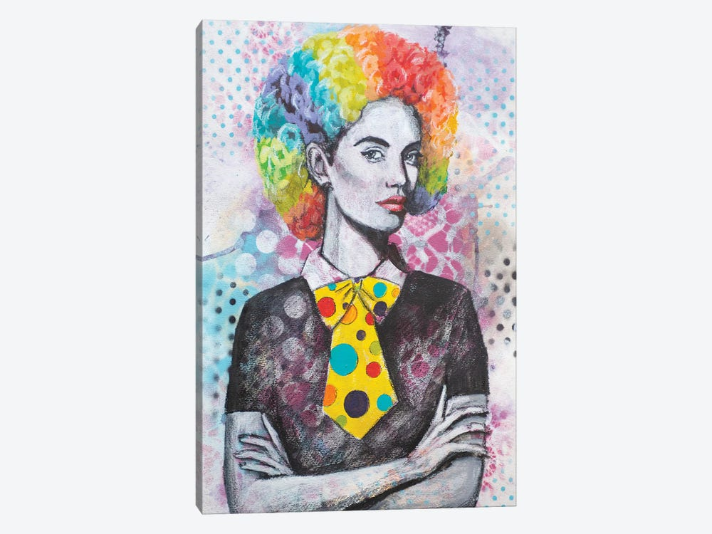 Clown Hair by Tara Gamel 1-piece Canvas Artwork