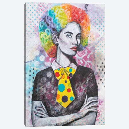 Clown Hair Canvas Print #GAM44} by Tara Gamel Canvas Wall Art