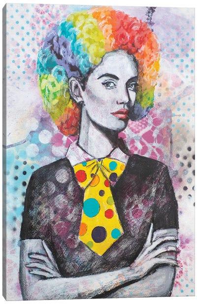 Clown Hair Canvas Art Print