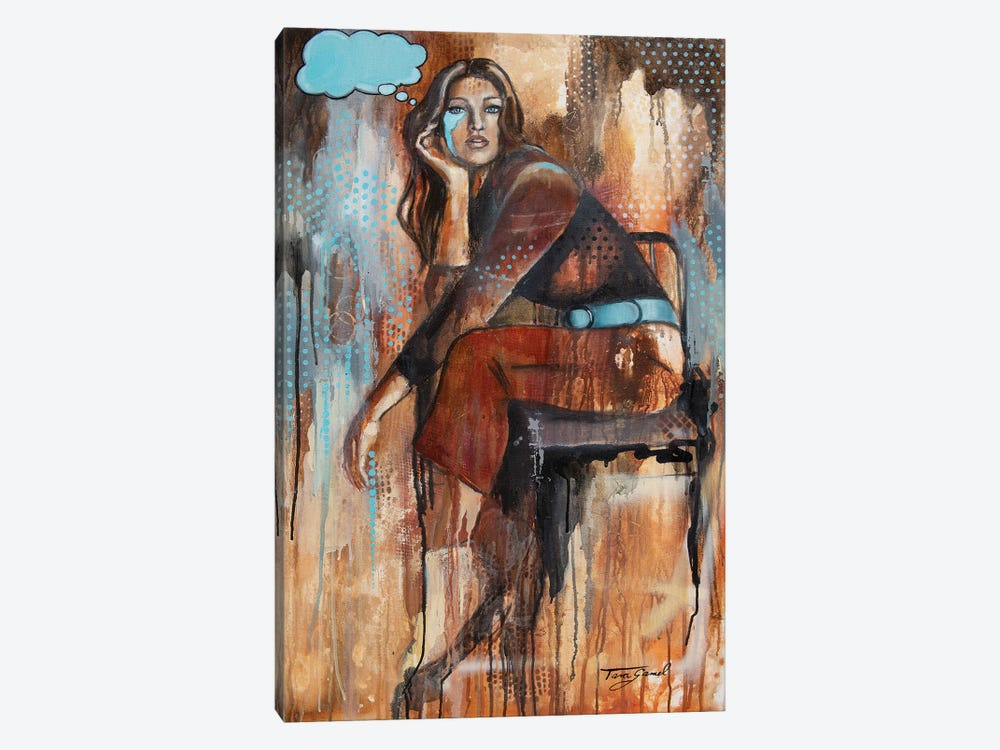 Think On These Things by Tara Gamel 1-piece Canvas Print