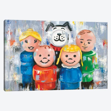 A Little Character Goes A Long Way Canvas Print #GAM52} by Tara Gamel Canvas Wall Art