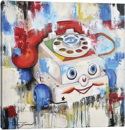 Eye Phone Recall Canvas Art Print