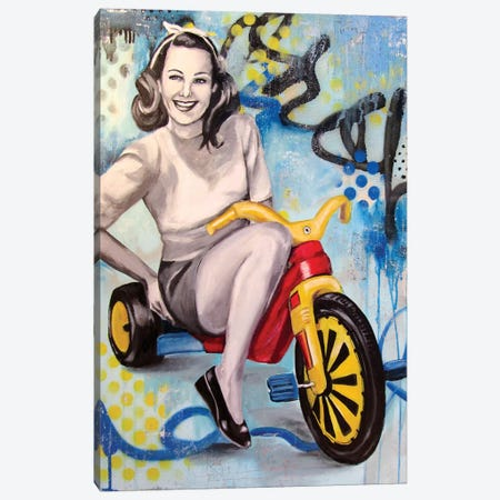 Boo Boo Bike  Canvas Print #GAM5} by Tara Gamel Art Print