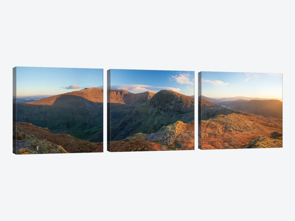 View From Stumpa Duloigh, Dunkerron Mountains, County Kerry, Munster Province, Republic Of Ireland by Gareth McCormack 3-piece Canvas Art Print