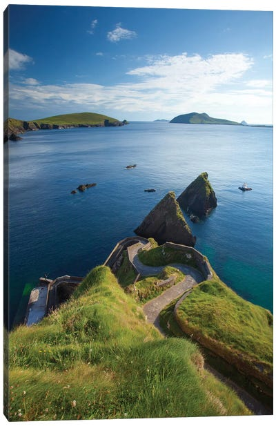Winding Entryway I, Dunquin Harbour, Dingle Peninsula, County Kerry, Munster Province, Republic Of Ireland Canvas Art Print
