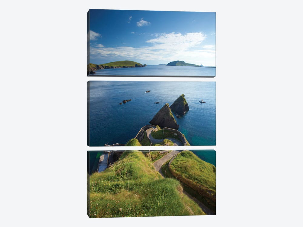 Winding Entryway I, Dunquin Harbour, Dingle Peninsula, County Kerry, Munster Province, Republic Of Ireland by Gareth McCormack 3-piece Canvas Wall Art