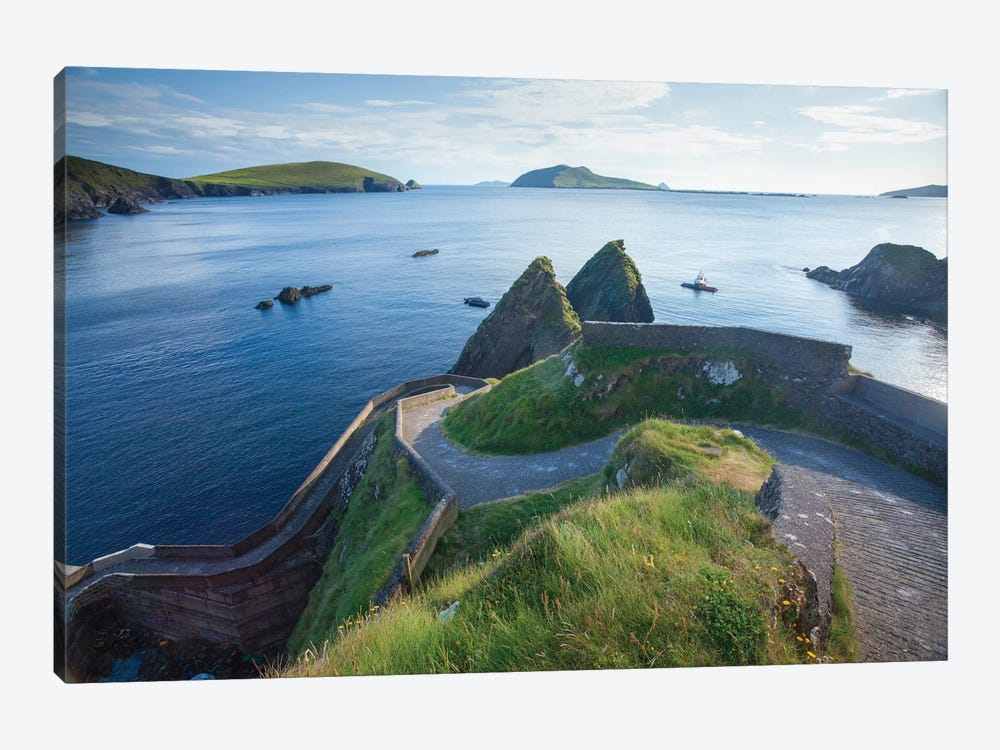 Winding Entryway II, Dunquin Harbour, Dingle Peninsula, County Kerry, Munster Province, Republic Of Ireland by Gareth McCormack 1-piece Canvas Print