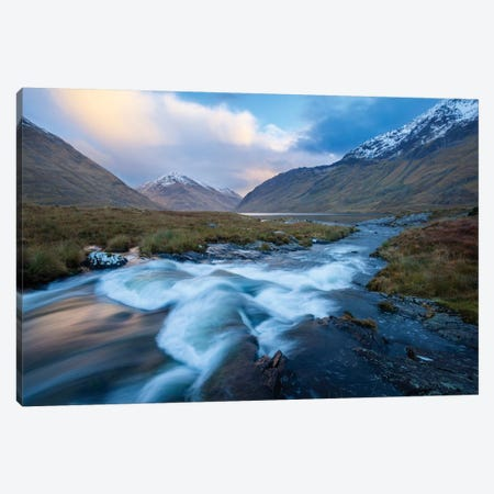 Winter Sunset, Glencullen River, County Mayo, Connacht Province, Republic Of Ireland Canvas Print #GAR103} by Gareth McCormack Canvas Art
