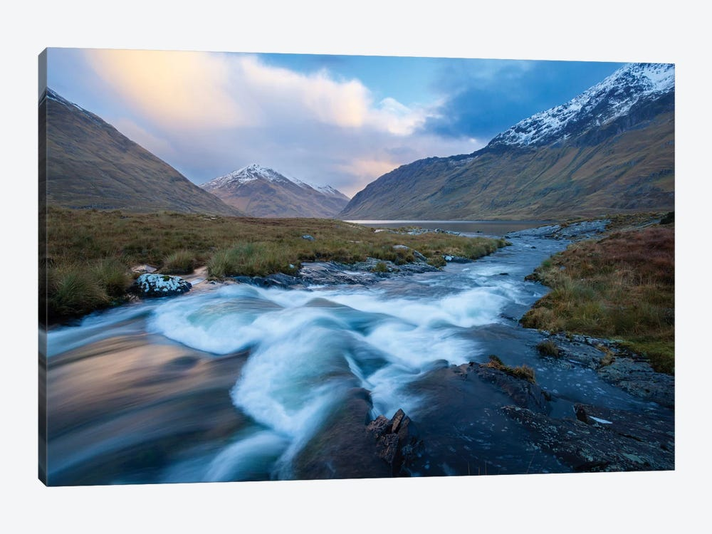 Winter Sunset, Glencullen River, County Mayo, Connacht Province, Republic Of Ireland by Gareth McCormack 1-piece Canvas Wall Art