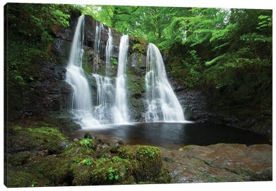 Ess-Na-Crub Waterfall, Glenariff Forest Park, County Antrim, Northern Ireland Canvas Art Print