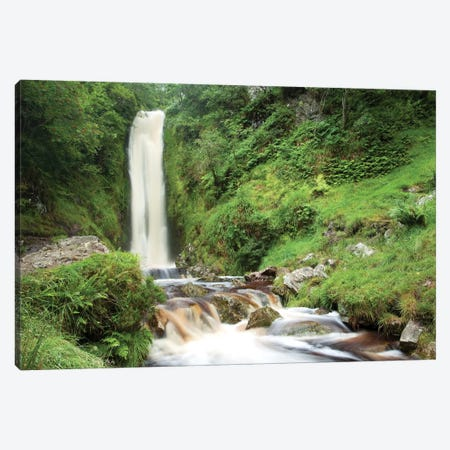 Glenevin Waterfall, Clonmany, Inishowen, County Donegal, Ireland Canvas Print #GAR109} by Gareth McCormack Canvas Wall Art