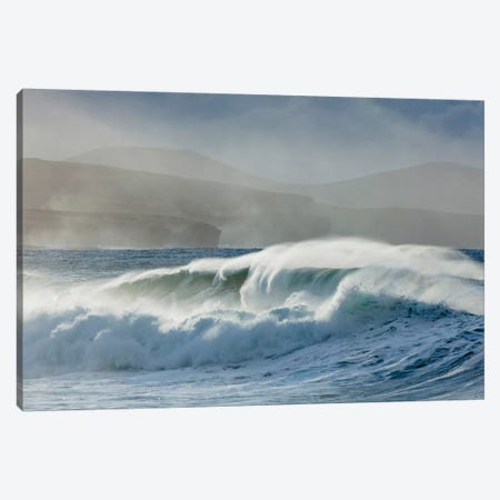 Atlantic Power Beneath The Ceide Fields, County Mayo, Ireland Canvas Print #GAR125} by Gareth McCormack Canvas Art Print