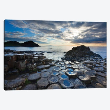 Blue Pools, Giant's Causeway, Co Antrim, Northern Ireland Canvas Print #GAR127} by Gareth McCormack Art Print