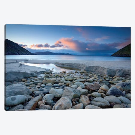 Early Summer Morning At Keem Strand, Achill Island, County Mayo, Ireland 3-Piece Canvas #GAR138} by Gareth McCormack Art Print