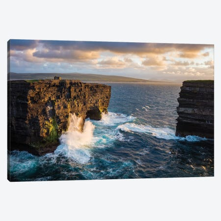 Evening At Dun Briste, Downpatrick Head, County Mayo, Ireland Canvas Print #GAR139} by Gareth McCormack Canvas Art Print