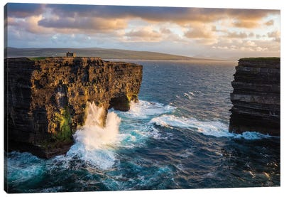 Evening At Dun Briste, Downpatrick Head, County Mayo, Ireland Canvas Art Print