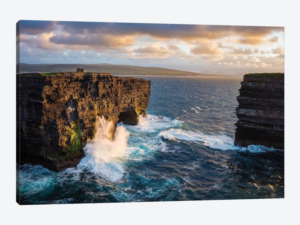 Evening At Dun Briste, Downpatrick Head, County Mayo, Ireland by Gareth McCormack 1-piece Canvas Print
