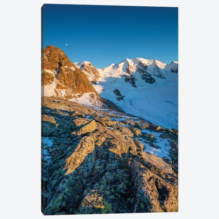 Evening Light On Piz Trovat And Piz Palu I, Berniner Alps, Graubunden, Switzerland Canvas Print #GAR140} by Gareth McCormack Canvas Artwork