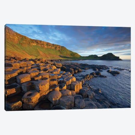 Evening Light I, Giant's Causeway, Co Antrim, Northern Ireland 3-Piece Canvas #GAR145} by Gareth McCormack Canvas Print